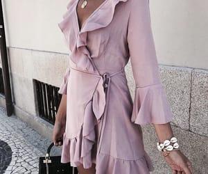 dress, feminine, and fashion image