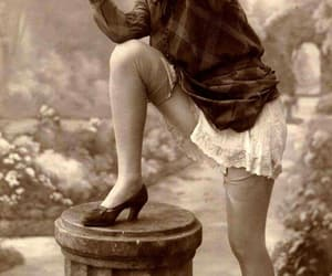 vintage, camera, and woman image