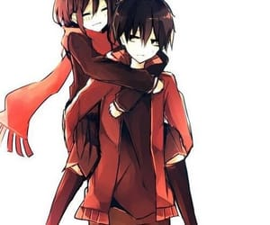 anime, mekaku city actors, and anime couple image
