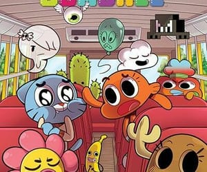 gumball, darwin, and wallpaper image