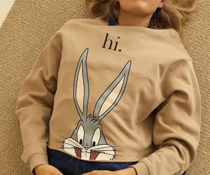 beige, bugs bunny, and fashion image