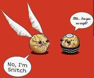 golden snitch, harry potter, and meme image