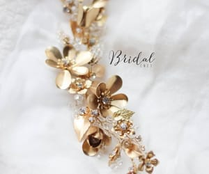 etsy, bridal head piece, and flower hair piece image