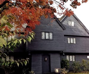 autumn, black, and building image