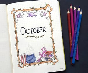 october, bujo, and bullet journal image
