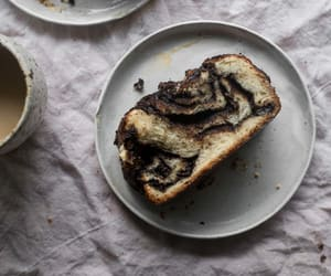 bread, coffee, and breakfast image
