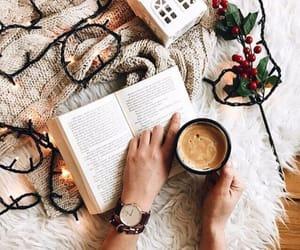 book, christmas, and coffee image