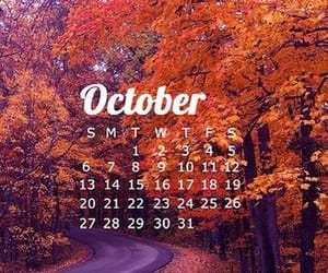 autumn, calendar, and Halloween image