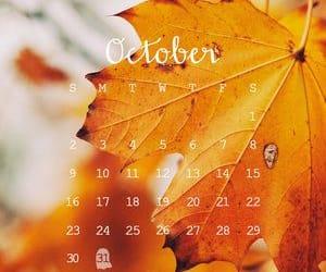 autumn, october, and calendar image