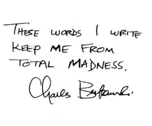 madness, quotes, and charles bukowski image