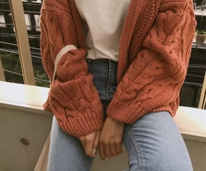 autumn, cardigan, and casual image