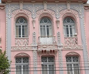 pink, aesthetic, and building image