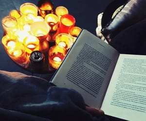 autumn, candles, and reading image