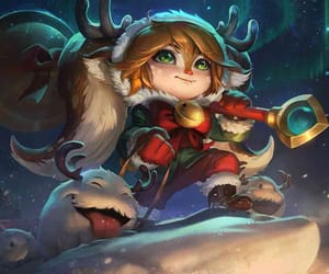 fawn, poppy, and snow image