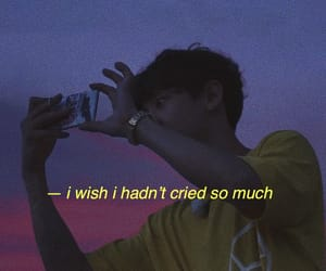 aesthetic, park chanyeol, and cry image
