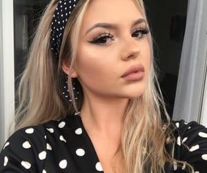 blonde, girl, and make up image