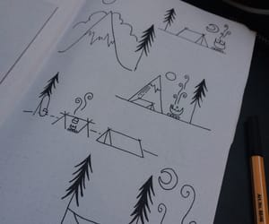 lagerfeuer, camping, and berg image