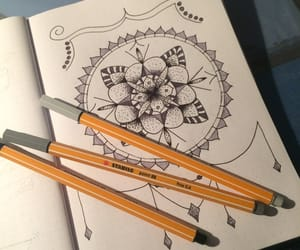 circle, mandala, and fineliner image
