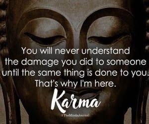 Buddha, karma, and quotes image