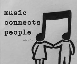 music, black and white, and love image