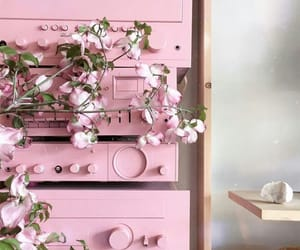 drawers, flowers, and pastel image