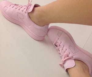 pink, pink shoes, and sneakers image