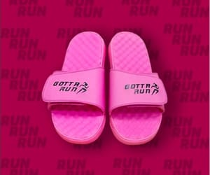pink, sandals, and gotta run image
