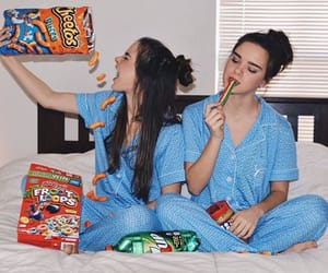 candy, corn flakes, and sister image