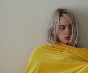 billie eilish, yellow, and bored image
