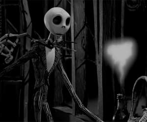 black&white, Halloween, and jack image