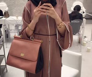 hijab, abaya, and outfit image
