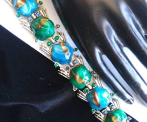 rhinestone bracelet, signed jewelry, and art deco jewelry image