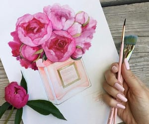 art, creative, and flowers image