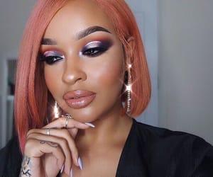 contour, eyeshadow, and lipstick image