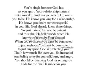 god, trust, and singleness image