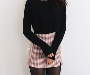 outfit, look, and skirt image