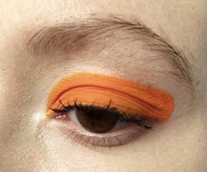 orange, aesthetic, and makeup image
