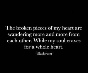 black, broken, and feelings image