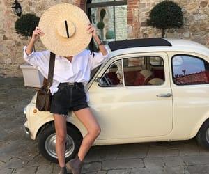 car, girl, and woman image
