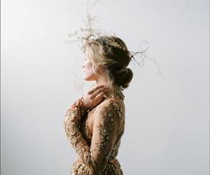 Portrait photography, beauty fashion model, and wedding dress inspiration image