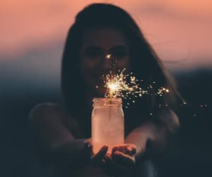 fire, girl, and inspiration image