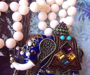 etsy, rhinestone necklace, and double strand image