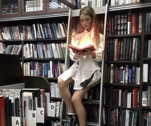 alone, fire, and magic image