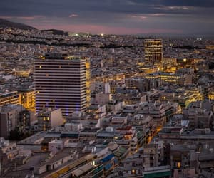 Athens, nightlife, and overwhelming image