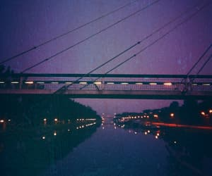blue, bridge, and river image