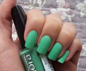green, manicure, and mint image