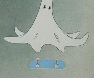 ghost, skate, and skateboard image