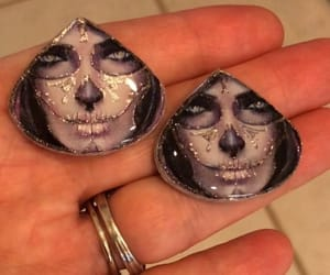day of the dead, dia de muertos, and woman face image