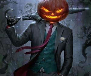 art, Halloween, and pumpkin image