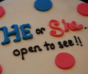 gender reveal cake image